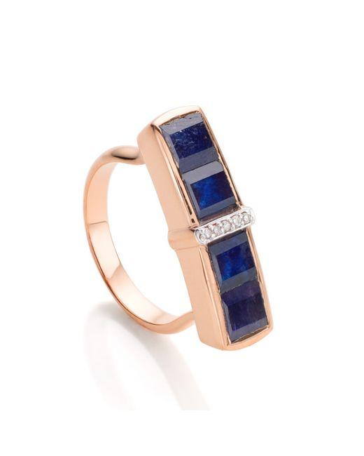 Monica Vinader | Blue Baja Precious Ring | Lyst