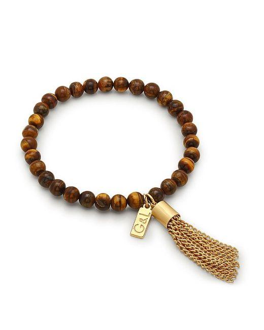 george laurel sonoma bead tassel bracelet in brown