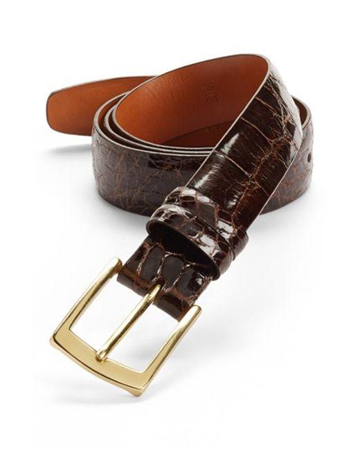 Trafalgar | Brown Alligator Belt for Men | Lyst