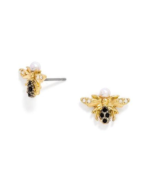 Baublebar Buzzed Stud Earrings In White Black Gold Lyst