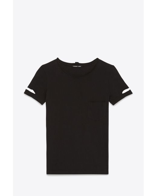 Helmut Lang   Black Cotton Pocket T-shirt   Lyst