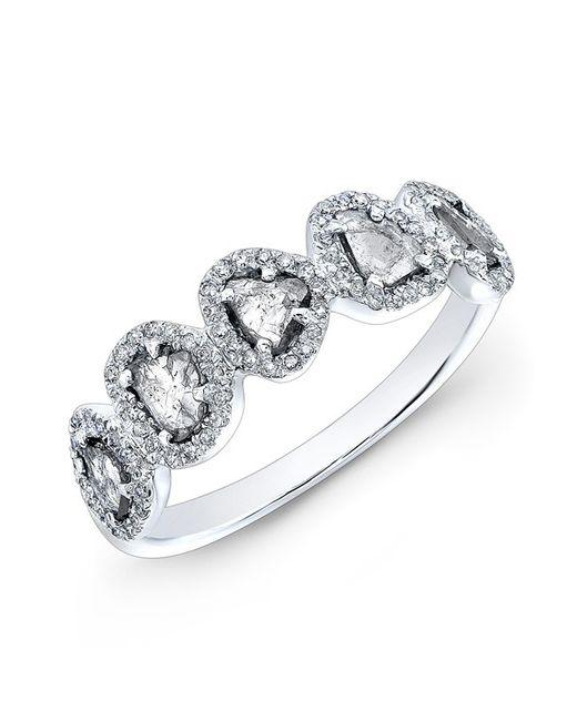 Anne Sisteron - Metallic 14kt White Gold Diamond Slice Princess Ring - Lyst
