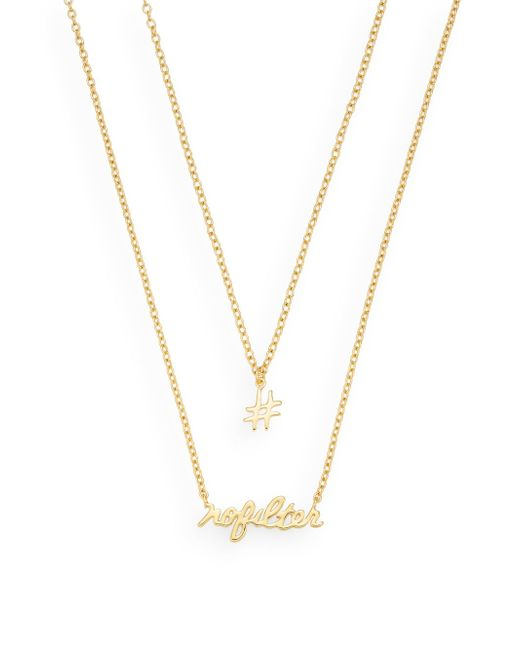 Gorjana   Metallic No Filter 18k Goldplated Two-row Pendant Necklace   Lyst