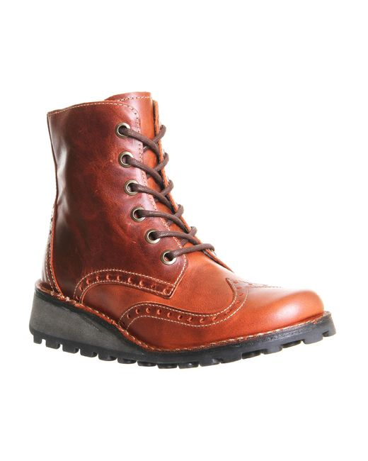 Fly   Brown Marl Lace Up Boots   Lyst
