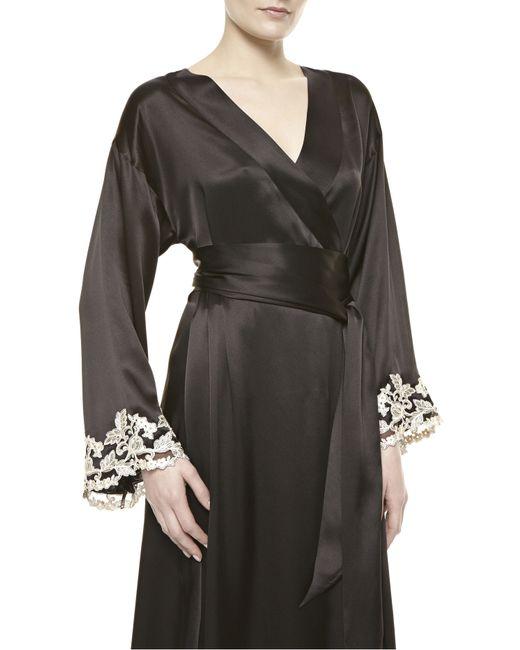 la perla maison robe in black lyst