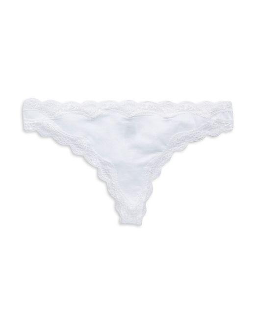 Calvin Klein | White Lace Trim Thong | Lyst