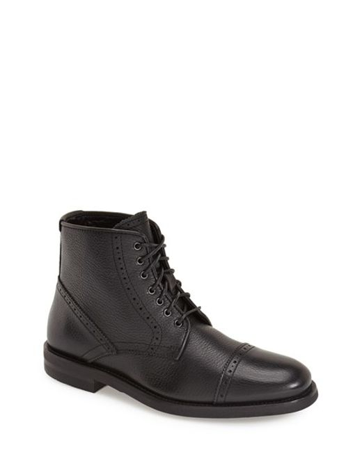 Aquatalia | Black 'carter' Weatherproof Cap Toe Boot for Men | Lyst
