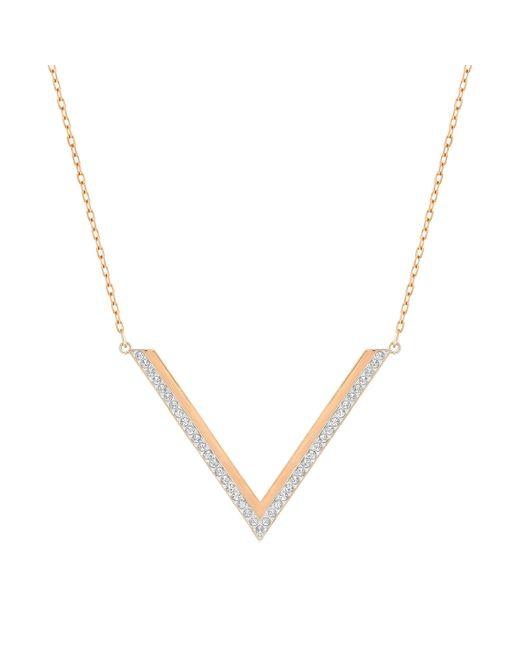 Swarovski | Pink Delta Necklace | Lyst