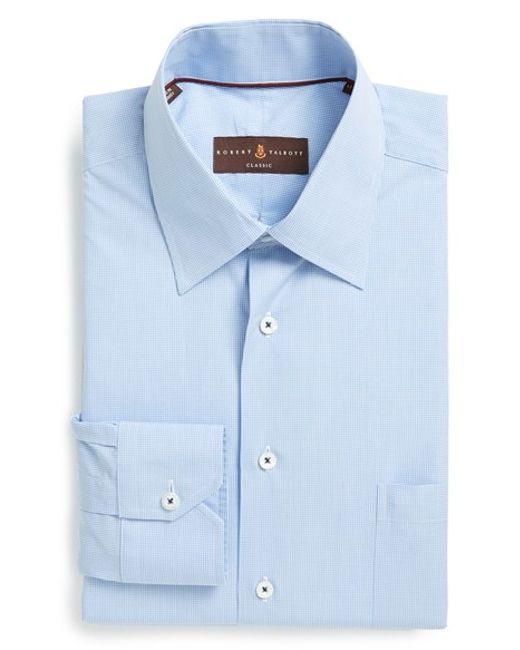 Robert talbott classic fit micro gingham dress shirt in for Robert talbott shirts sale