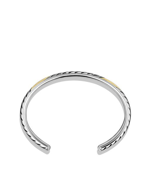 David Yurman | Metallic Modern Chevron Cuff Bracelet With 18k Gold for Men | Lyst
