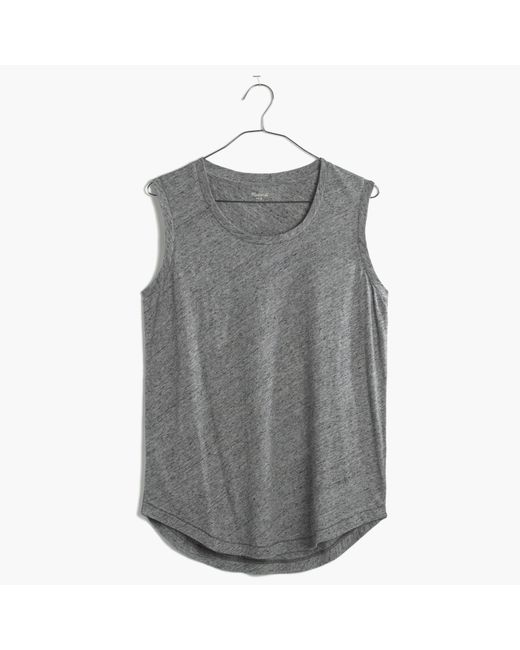 Madewell | Metallic Whisper Cotton Crewneck Muscle Tank | Lyst