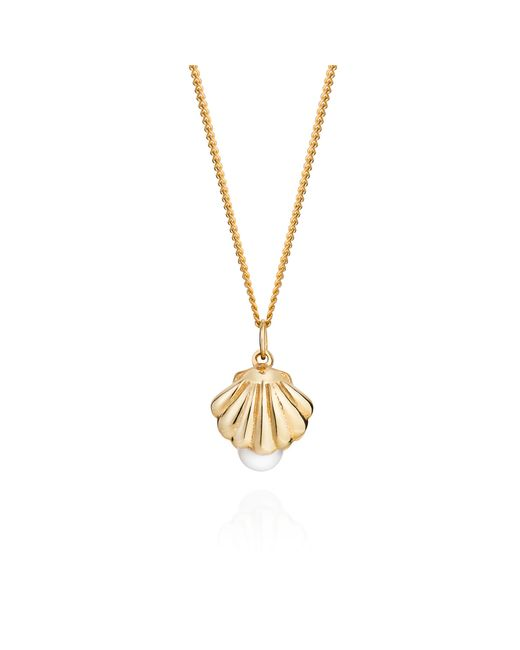 Lee Renee | Metallic Shell And Pearl Necklace Gold | Lyst