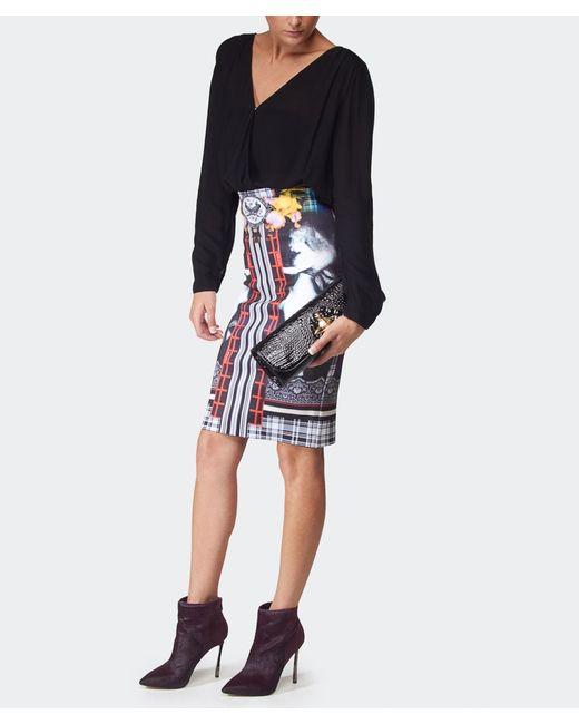clover rainbow crest pencil skirt in multicolor lyst
