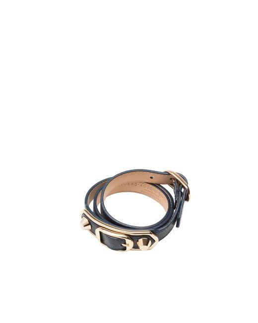 Balenciaga | Gray Classic Metallic Edge Bracelet Triple Tour | Lyst