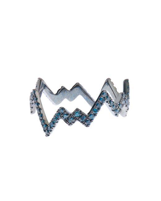 Diane Kordas | Blue-Diamond & Black-Gold Pop Art Ring | Lyst