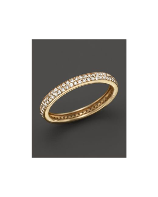 Dana Rebecca | Metallic 14k Yellow Gold Melissa Louise Thin Band With Diamonds | Lyst