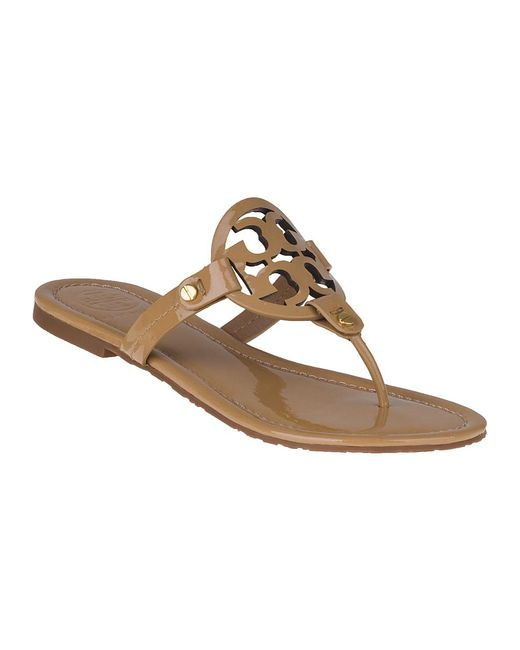 Tory Burch | Brown Miller Leather Sandals | Lyst