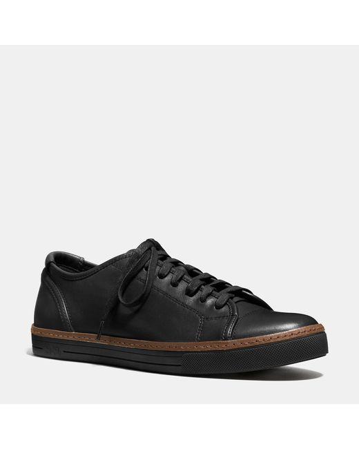 COACH | Black York Lace Sneaker for Men | Lyst