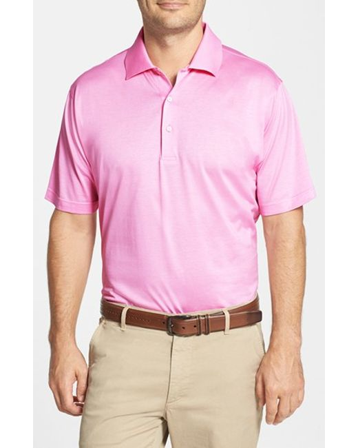 Peter Millar | Pink Egyptian Cotton Lisle Polo for Men | Lyst