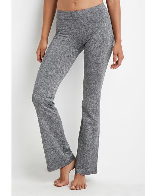 Forever 21 Active Heathered Yoga Pants In Gray (Charcoal