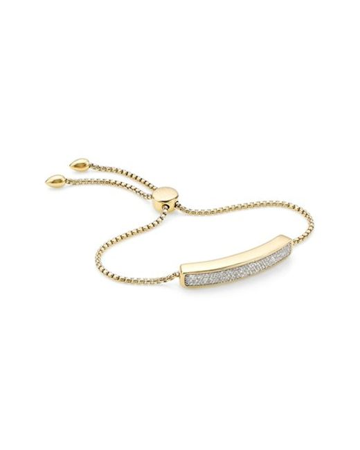 Monica Vinader | Metallic 'baja' Pave Diamond Bracelet | Lyst
