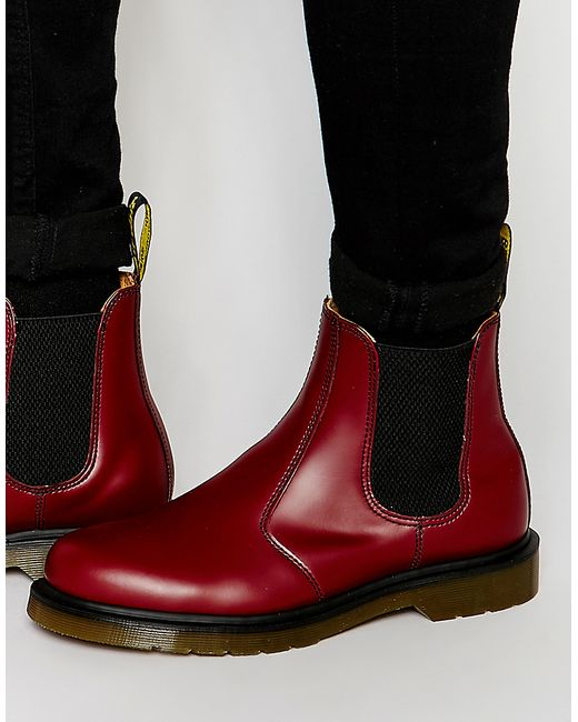 Brilliant Dr Martens Womens 2976 Chelsea Boot Boots In Cherry Red Smooth Lthr