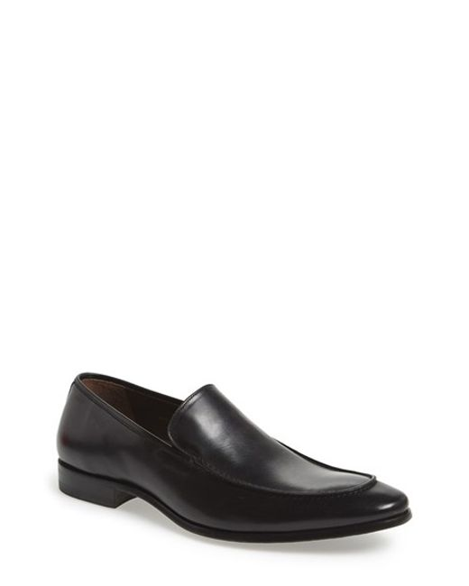 Bacco Bucci | Gray 'tamaris' Leather Venetian Loafer for Men | Lyst