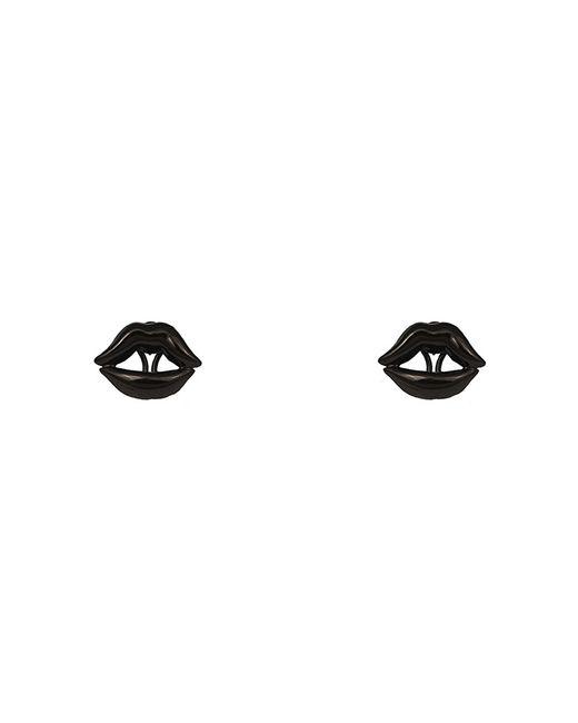Bernard Delettrez | Lips Earrings Black Bronze | Lyst