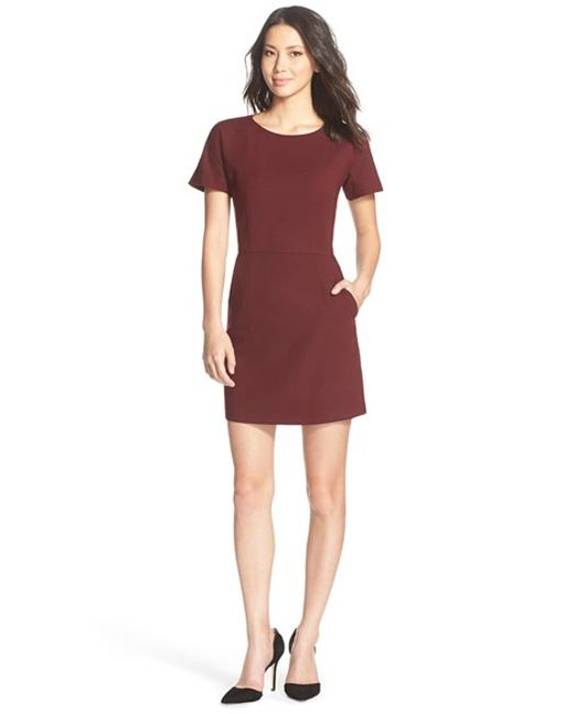French Connection | Purple 'whisper Ruth' Jersey A-line Dress | Lyst