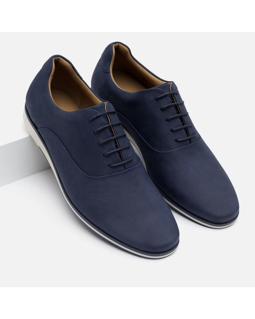 Beautiful Zara Antik Leather Oxford Shoes In Blue For Men Navy  Lyst