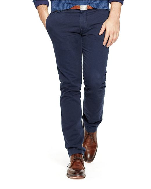Polo Ralph Lauren | Blue Slim-fit Bedford Chino Pants for Men | Lyst