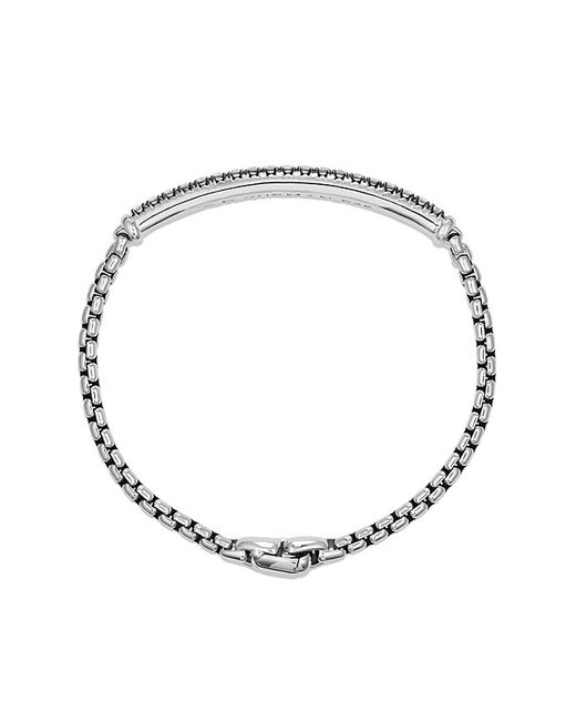 David Yurman | Metallic Pavé Box Chain Id Bracelet With Gray Sapphires for Men | Lyst