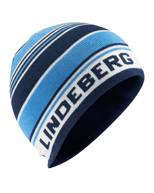 J.Lindeberg | Blue Acrylic Mix Beanie Hat for Men | Lyst