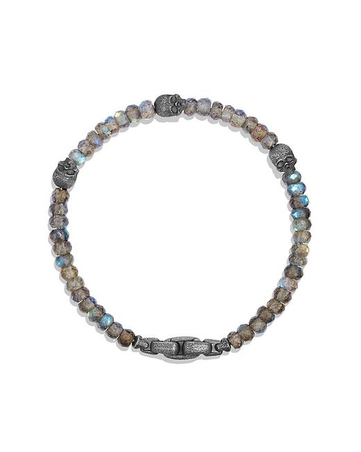 David Yurman | Metallic Skull Station Bracelet In Labradorite for Men | Lyst