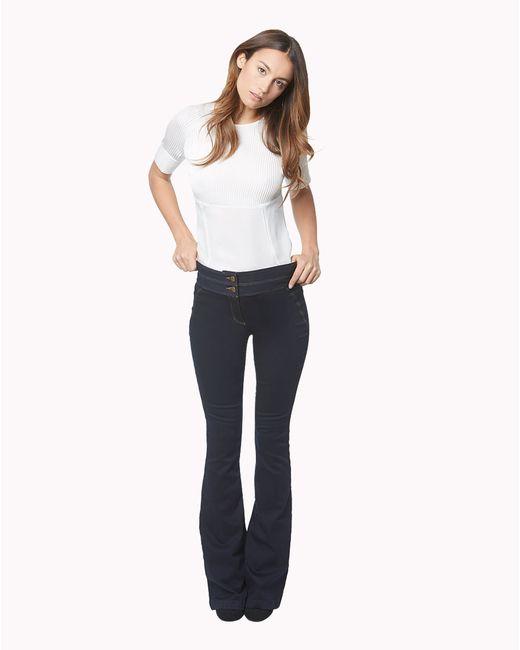 Veronica Beard | Blue Denim Skinny Flare Leg Pant | Lyst