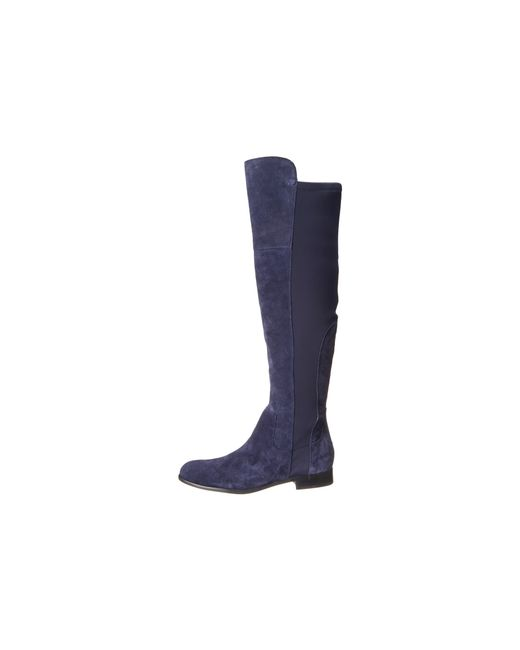 Franco sarto mast stretch suede knee high boots in blue for Franco sarto motor over the knee boots