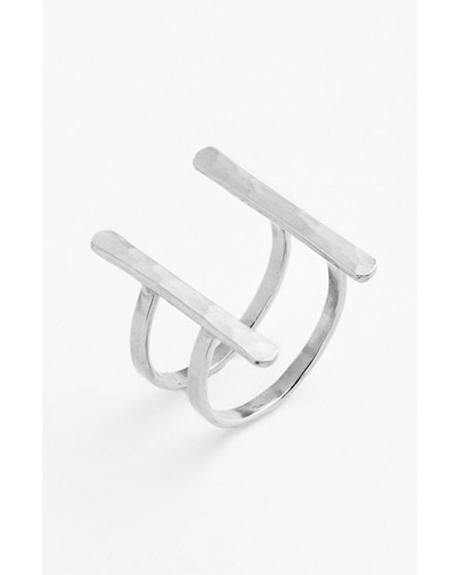 Ija | Metallic Double Bar Open Ring | Lyst