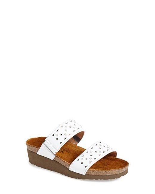 Naot | White 'susan' Sandal | Lyst