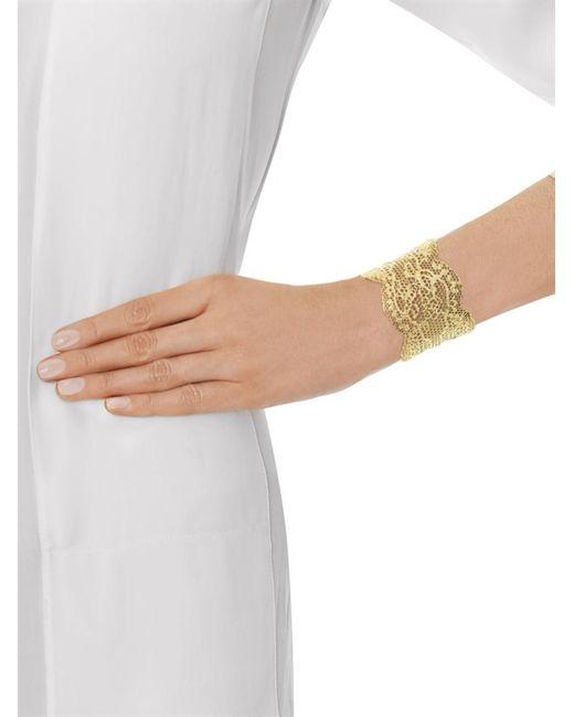 Aurelie Bidermann   Metallic Gold-Plated Vintage Lace Cuff   Lyst