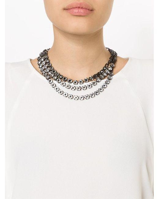 Lanvin | Black 'kristin' Necklace | Lyst