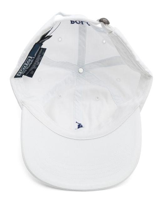 polo ralph lauren classic sport white cap in white for men. Black Bedroom Furniture Sets. Home Design Ideas