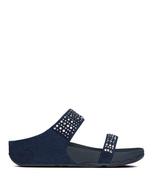 Fitflop | Blue Novy Tm Slide Sandals | Lyst