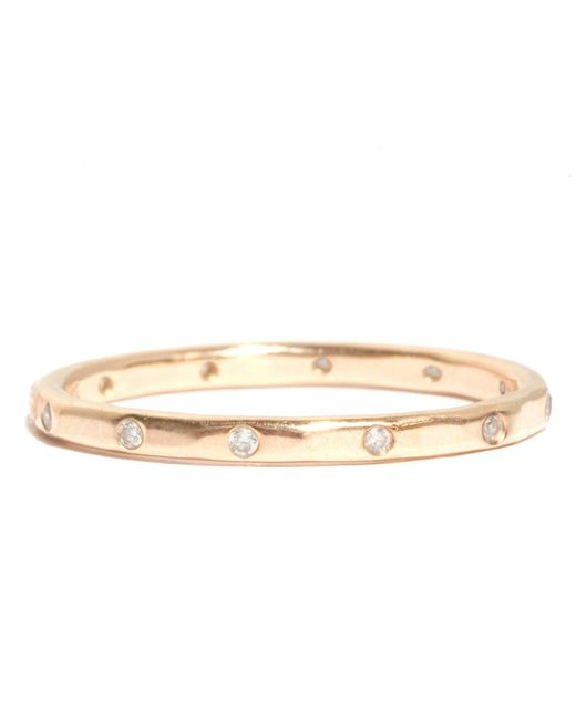 Melissa Joy Manning | Metallic 12 White Diamonds Wedding Band | Lyst