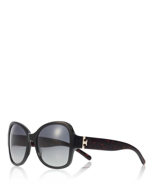 Tory Burch | Black Oversized Butterfly Sunglasses | Lyst