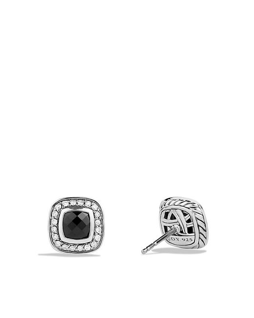 David Yurman | Petite Albion Earrings With Black Onyx And Diamonds | Lyst