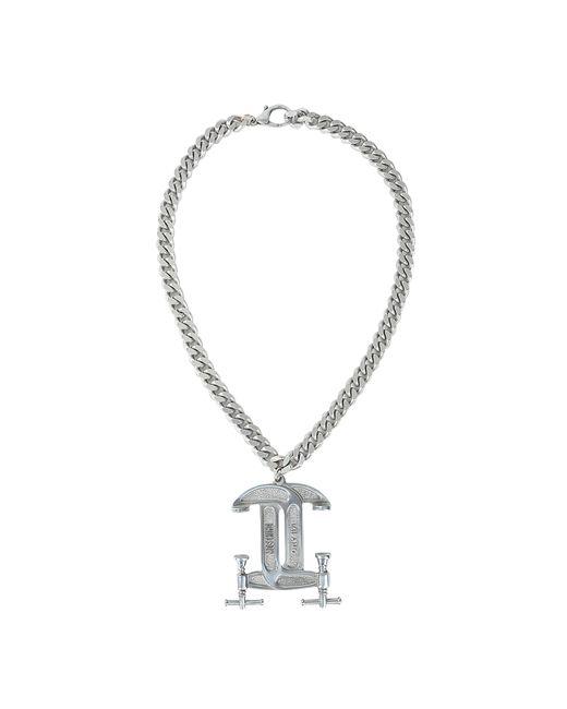 Moschino | Metallic Interlocking C-clamp Necklace | Lyst
