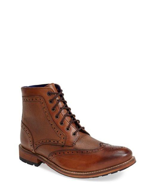 Ted Baker | Brown 'sealls' Wingtip Boot for Men | Lyst