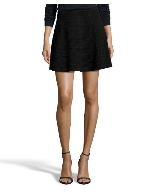Black Knit Mini Skirt - Lesbian Pantyhose Sex-8197