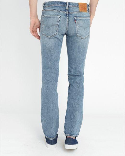 levi 39 s light stone washed 511 slim fit jeans in blue for. Black Bedroom Furniture Sets. Home Design Ideas