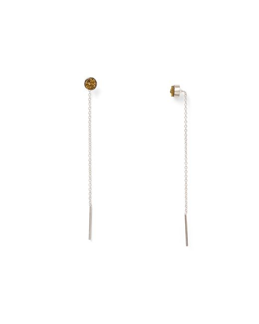 Chan Luu | Metallic Agate Threader Earrings | Lyst